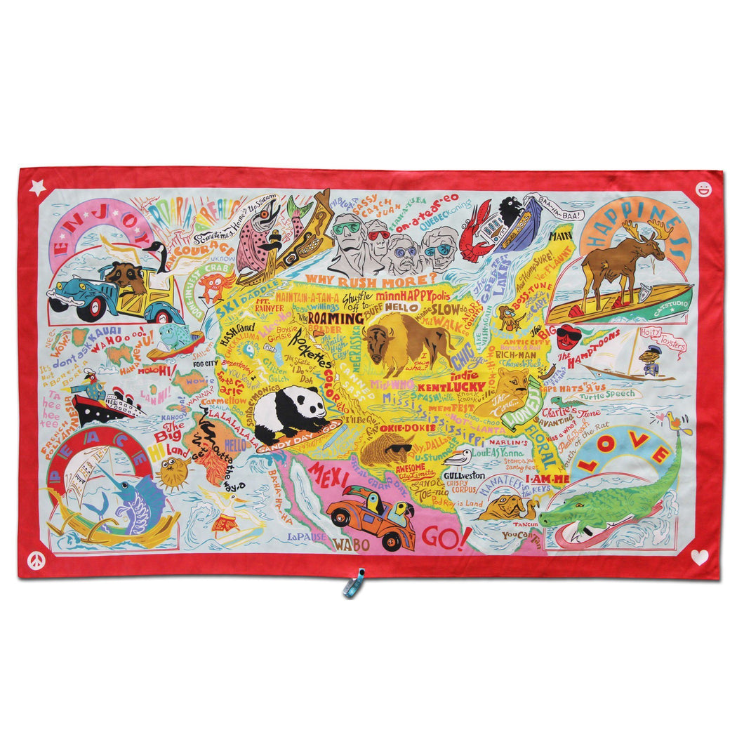 America Beach & Travel Towel Beach & Travel Towels catstudio