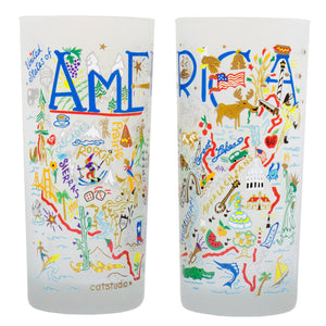 America Drinking Glass - catstudio