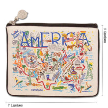 Load image into Gallery viewer, America Zip Pouch - Natural - catstudio