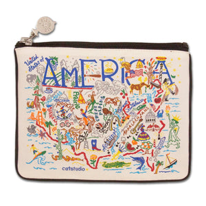 America Zip Pouch - Natural - catstudio