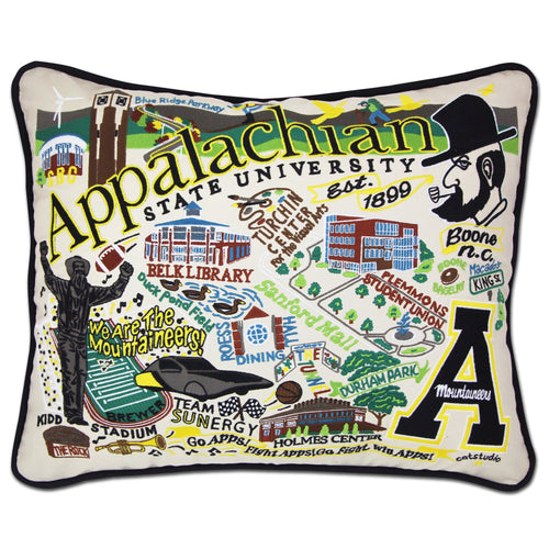 Appalachian State University Collegiate Embroidered Pillow Pillow catstudio