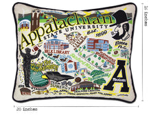 Load image into Gallery viewer, Appalachian State University Collegiate Embroidered Pillow - catstudio