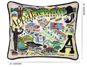 Appalachian State University Collegiate Embroidered Pillow - catstudio