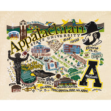 Load image into Gallery viewer, Appalachian State University Collegiate Fine Art Print Art Print catstudio