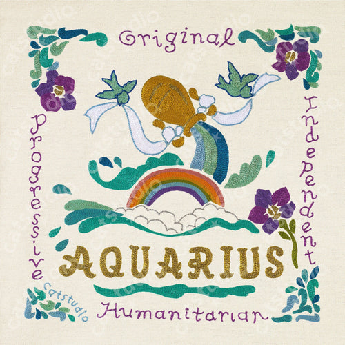 Aquarius Astrology Fine Art Print - catstudio