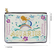 Load image into Gallery viewer, Aquarius Astrology Zip Pouch Pouch catstudio