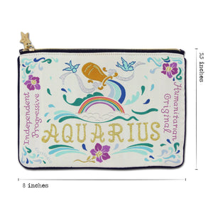 Aquarius Astrology Zip Pouch Pouch catstudio
