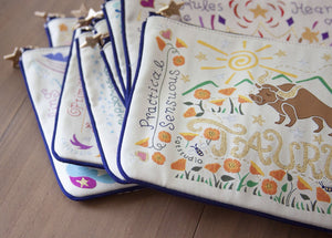Aquarius Astrology Zip Pouch - catstudio