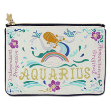 Load image into Gallery viewer, Aquarius Astrology Zip Pouch - catstudio