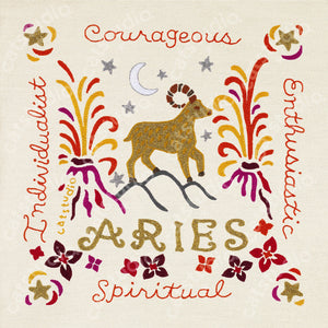 Aries Astrology Fine Art Print - catstudio