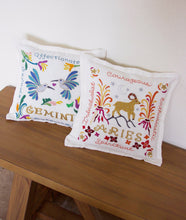 Load image into Gallery viewer, Aries Astrology Hand-Embroidered Pillow - catstudio