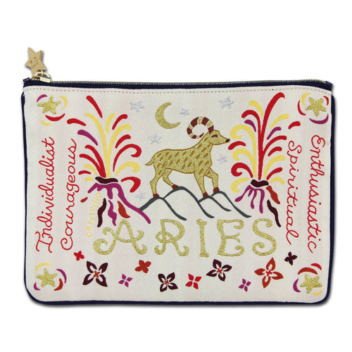 Aries Astrology Zip Pouch - catstudio