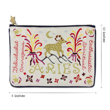 Load image into Gallery viewer, Aries Astrology Zip Pouch Pouch catstudio
