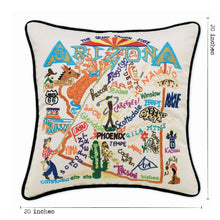 Load image into Gallery viewer, Arizona Hand-Embroidered Pillow - catstudio