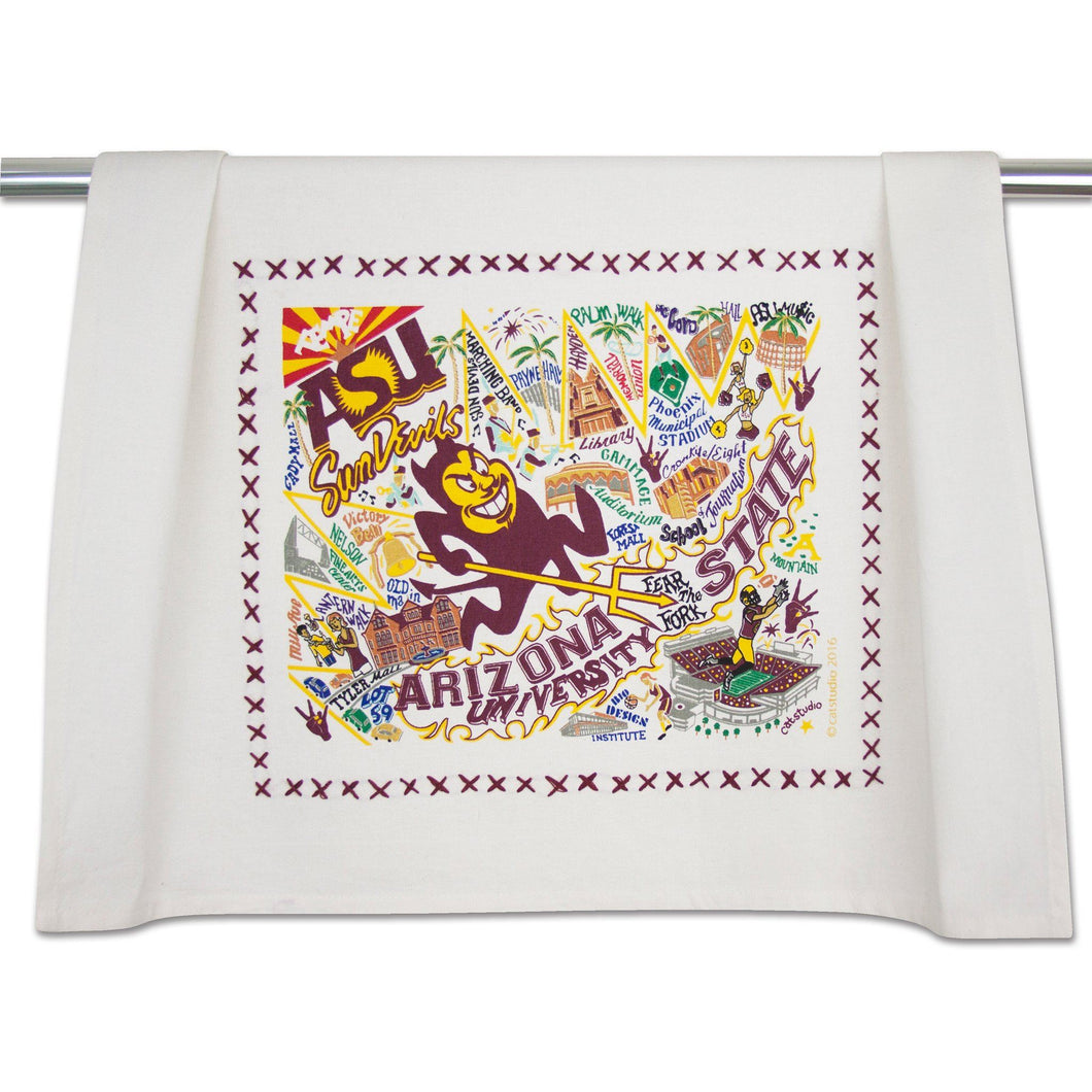 Arizona State University Collegiate Dish Towel - catstudio
