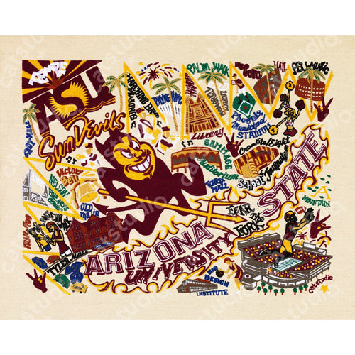 Arizona State University Collegiate Fine Art Print - catstudio