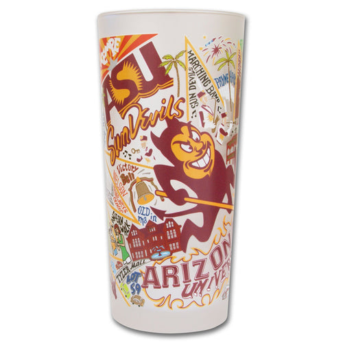 Arizona State University Collegiate Drinking Glass - catstudio