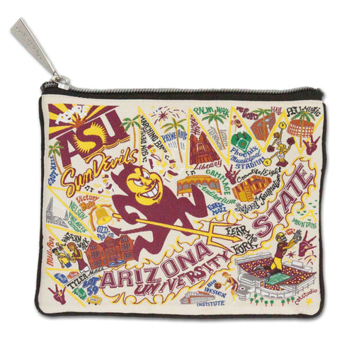 Arizona State University Collegiate Zip Pouch - catstudio