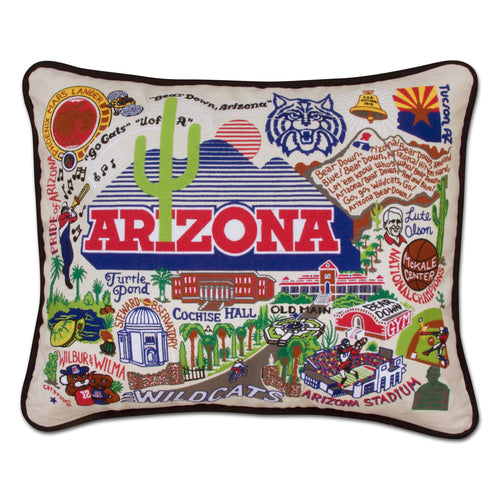Arizona, University of Collegiate Embroidered Pillow - catstudio