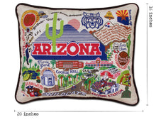 Load image into Gallery viewer, Arizona, University of Collegiate Embroidered Pillow - catstudio