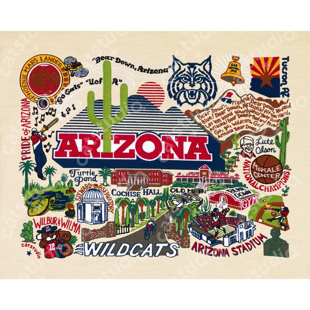Arizona, University of Collegiate Fine Art Print - catstudio