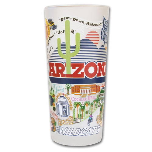 Arizona, University of Collegiate Drinking Glass - catstudio