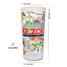 Load image into Gallery viewer, Arizona, University of Collegiate Drinking Glass - catstudio