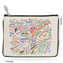 Load image into Gallery viewer, Arkansas Zip Pouch - Natural - catstudio