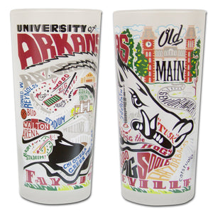 Arkansas, University of Collegiate Drinking Glass - catstudio