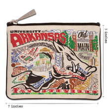 Load image into Gallery viewer, Arkansas, University of Collegiate Zip Pouch - catstudio
