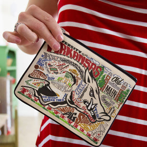 Arkansas, University of Collegiate Zip Pouch - catstudio