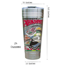 Load image into Gallery viewer, Arkansas, University of Collegiate Thermal Tumbler (Set of 4) - PREORDER Thermal Tumbler catstudio