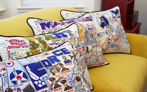 Army Embroidered Pillow - catstudio