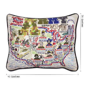 Army XL Hand-Embroidered Pillow - catstudio