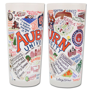 Auburn University Collegiate Drinking Glass - catstudio