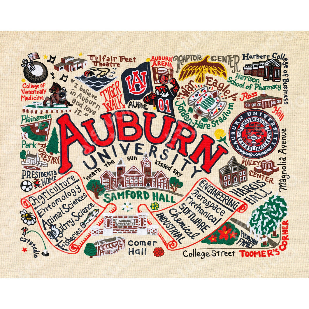 Auburn University Collegiate Fine Art Print - catstudio