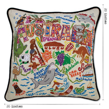 Load image into Gallery viewer, Australia Hand-Embroidered Pillow - catstudio