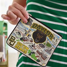 Load image into Gallery viewer, Baylor University Collegiate Zip Pouch - catstudio