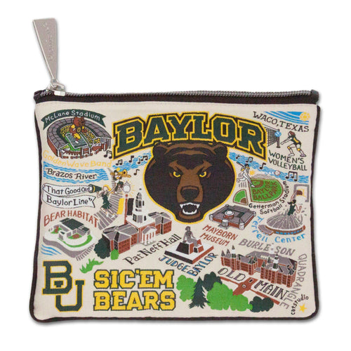 Baylor University Collegiate Zip Pouch - catstudio