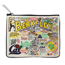 Load image into Gallery viewer, Berkeley, UC (Cal) Collegiate Zip Pouch - catstudio