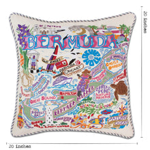 Load image into Gallery viewer, Bermuda Hand-Embroidered Pillow - catstudio