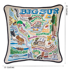 Load image into Gallery viewer, Big Sur Hand-Embroidered Pillow - catstudio