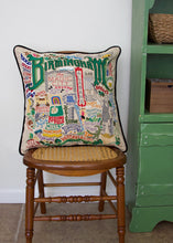 Load image into Gallery viewer, Birmingham Hand-Embroidered Pillow - catstudio