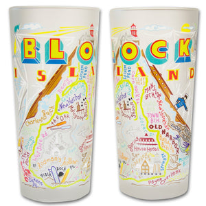Block Island Drinking Glass - catstudio