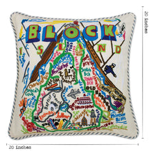 Load image into Gallery viewer, Block Island Hand-Embroidered Pillow - catstudio