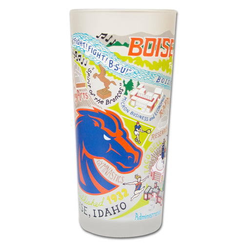 Boise State University Collegiate Drinking Glass - catstudio