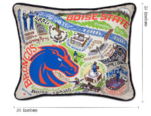 Load image into Gallery viewer, Boise State University Collegiate Embroidered Pillow - catstudio