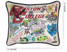 Load image into Gallery viewer, Boston College Collegiate Embroidered Pillow - catstudio