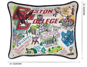 Boston College Collegiate Embroidered Pillow - catstudio