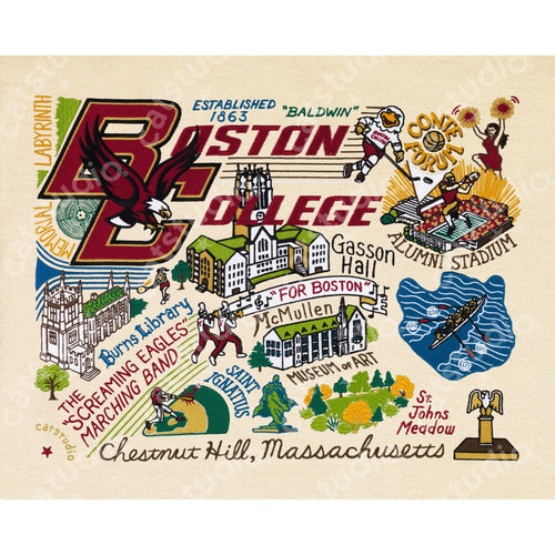 Boston College Collegiate Fine Art Print - catstudio